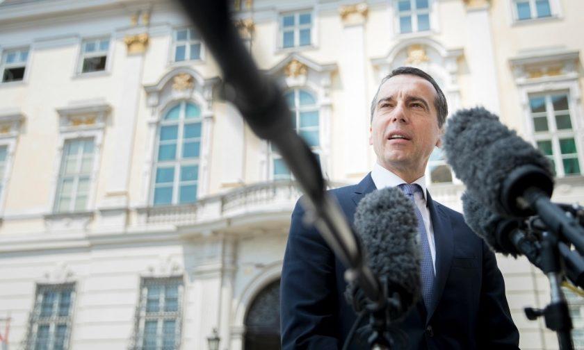 Bundeskanzler Christian Kern beim Pressestatement zum Beschäftigungsbonus. (Bild: © BKA/Andy Wenzel)